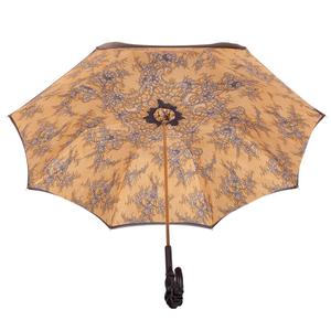 Зонт-трость Pasotti Giallo Dentell Pelle фото-3