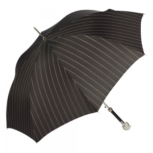 Зонт-трость Pasotti Horse Silver StripesL Black фото-3