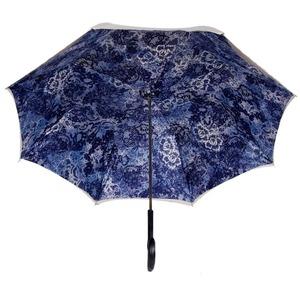 Зонт-трость Pasotti Ivory Blu Dentell Original фото-3