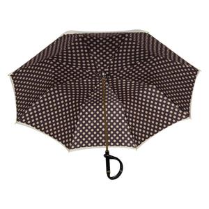 Зонт-трость Pasotti Ivory Pois Nero Plastica фото-4