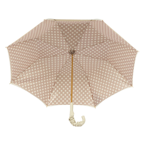 Зонт-трость Pasotti Ivory Pois Pelle фото-3