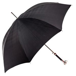 Зонт-трость Pasotti Labradore Silver Cell Black фото-3