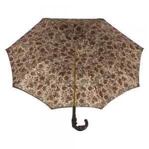 Зонт-трость Pasotti Marrone Fern Pelle фото-3