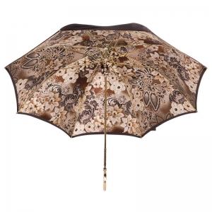 Зонт-трость Pasotti Marrone Novita Auto Oro фото-4
