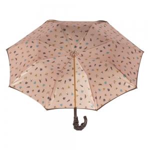 Зонт-трость Pasotti Marrone Spilla Pelle фото-3