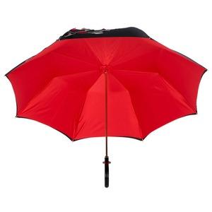 Зонт-трость Pasotti Nero Application Rosso Plastica фото-4