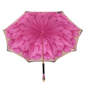 Зонт-трость Pasotti Nero Georgin Rosa Flamingo фото-3