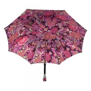 Зонт-трость Pasotti Nero Motivi Fiore Rosso Lux фото-4