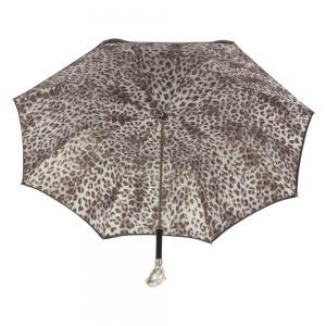 Зонт-трость Pasotti Nero Silver Pantera Lux фото-3