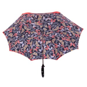 Зонт-трость Pasotti Rosso Buterfly Plastica фото-3