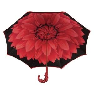 Зонт-трость Pasotti Rosso Georgin Pelle фото-4