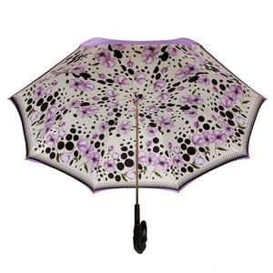 Зонт-трость Pasotti Viola Poppy Pelle фото-3