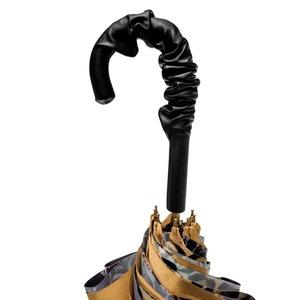 Зонт-трость Pasotti Becolore Gialo Leo Fiore Pelle фото-4