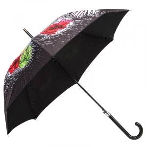 Зонт-трость Moschino 7055-63AUTOA Flower Doodles Black фото-4