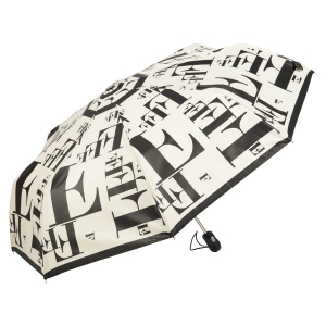 Зонт складной Ferre 6034-OC Symbol Beige/Black фото-2