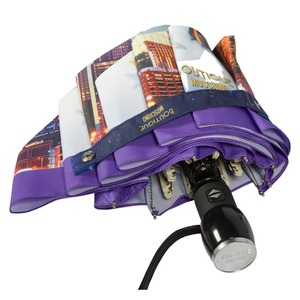 Зонт складной Moschino 7002-OCQ Romantic City Purple фото-3