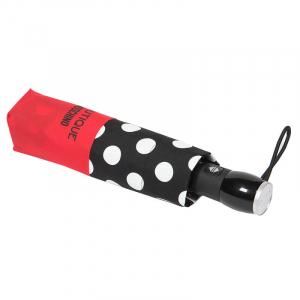 Зонт складной Moschino 7220-OCAC Polka Dots Black/Red фото-4