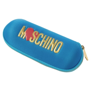 Зонт складной Moschino 8020-SUPERMINIP HEART LOGO LIGHT BLUE фото-4
