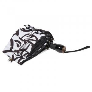 Зонт складной Moschino 8025-OCB Peace Signs White/Black фото-4