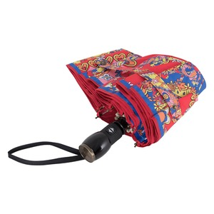 Зонт складной M 8264-OCC Paisley Red Multi фото-4