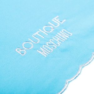 Зонт складной Moschino 7000-OCP Embroidery Azzurro фото-3
