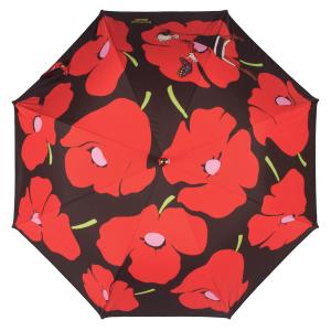Зонт-трость Moschino 7520-D63AUTOC Olivia and Poppies Black/Red  фото-3