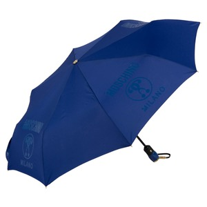 Зонт складной Moschino 8010-OCF Lettering Blue фото-2