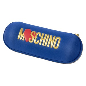 Зонт складной Moschino 8020-SUPERMINIF HEART LOGO BLUE фото-4
