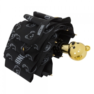 Зонт складной Moschino 8043-OCA Monobear Gold Black фото-3
