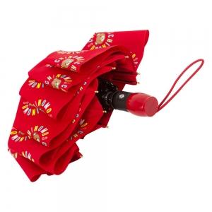 Зонт складной Moschino 8059-OCC Big Bear Circles Red фото-4