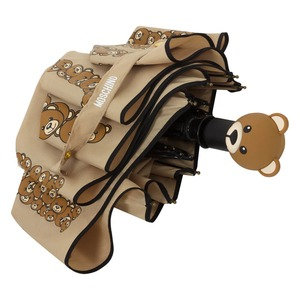 Зонт складной Moschino 8120-OCD Big Bear Letters Dark Beige фото-3