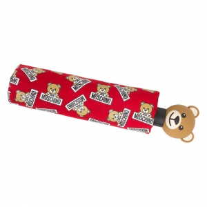Зонт складной Moschino 8135-OCC Slogan Bear Red фото-4