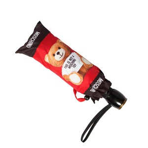 Зонт складной Moschino 8156-OCC Photo Bear Red фото-4