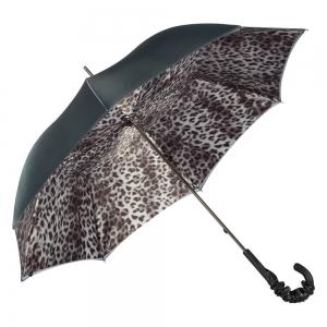 Зонт-трость Pasotti Becolore Grigio Leo Pelle  фото-4