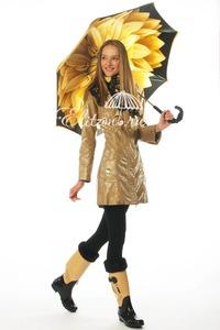 Зонт-трость Pasotti Becolore Georgin Giallo Pelle фото-7