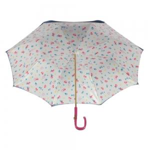 Зонт-трость Pasotti Blu Hearts Plastica Fiore фото-3
