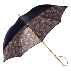 Зонт-трость Pasotti Blu Paisley Brown Rapira Oro фото-4