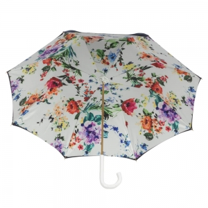 Зонт-трость Pasotti Blu Ticolori Classic Bianco фото-3
