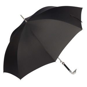 Зонт-трость Pasotti Bracco Silver Onda Black фото-2