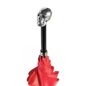 Зонт-трость Pasotti Capo Silver Picco Sculls Rosso фото-4