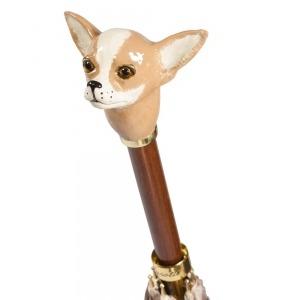 Зонт-трость Pasotti Chihuahua Pois Beige фото-4