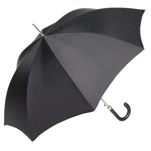 Зонт-трость Pasotti Classic Pelle Comondor Black фото-4