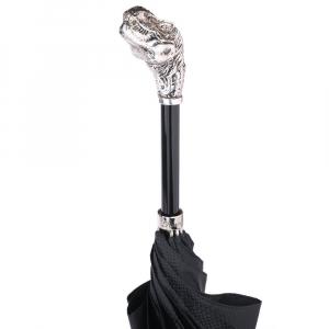 Зонт-трость Pasotti Dinosaur Silver Grono Black фото-5