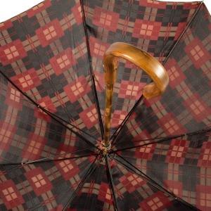 Зонт-трость Pasotti Chestnut Diamond Rosso фото-3