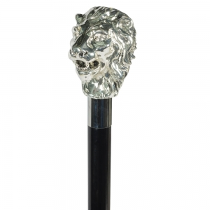 Зонт-трость Pasotti Leone Silver Rombes Black фото-4