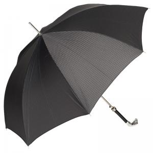 Зонт-трость Pasotti Jaguar Silver Codino Black фото-4