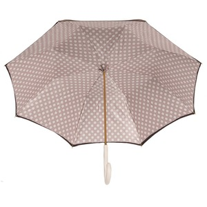 Зонт-трость Pasotti Marrone Pois Ivory Original фото-4