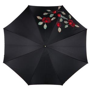 Зонт-трость Pasotti Nero Application Rosso Plastica фото-2