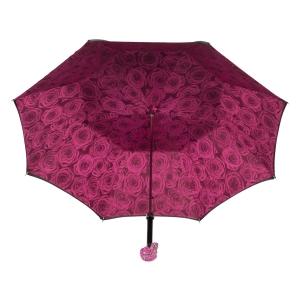 Зонт-трость Pasotti Nero Capo Swarovski Fuxia фото-3