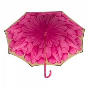 Зонт-трость Pasotti Nero Georgin Rosa Fuxia Original фото-4
